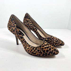 INC Int'l Concepts Leopard Print Calf Hair Heels